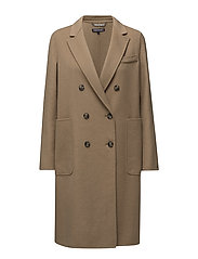 CARMEN DB WOOL COAT - KHAKI