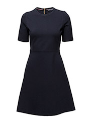 RAVEN C-NK DRESS 1/2 SLV - BLUE