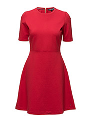 RAVEN C-NK DRESS 1/2 SLV - RED