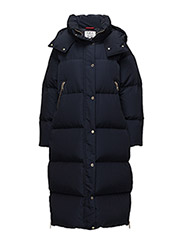 GIGI HADID LUX LONG DOWN COAT - BLUE