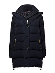COBY RIB KNIT DOWN COAT - BLUE