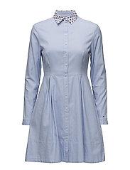 KAYLA SHIRT DRESS LS - HYDRANGEA