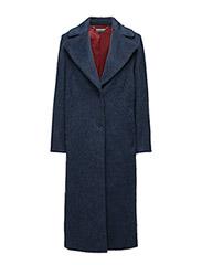 CHER WOOL COAT - BLUE
