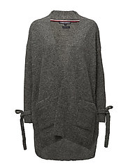 PATTI OPEN WRAP, M - LIGHT GREY HTR