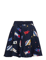 MAISIE SKIRT - TOMMY FLAG PRT / PEACOAT