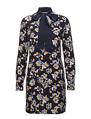 MIA DRESS LS, 10 - FLOWERY DOT / PEACOAT