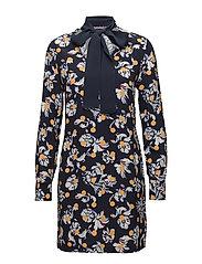 MIA DRESS LS, 10 - FLOWERY DOT / PEACOAT