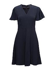 MIA FLARE DRESS SS - PEACOAT