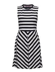 BETTINA DRESS NS - MIDNIGHT / CLASSIC WHITE STP