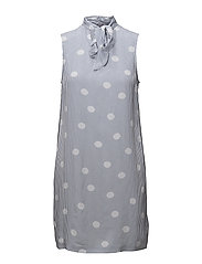 HARMONY DRESS NS, 6 - OVERSIZED OVERPRINTED POLKA DO