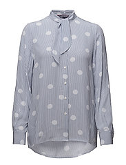 HARMONY BLOUSE LS, 6 - OVERSIZED OVERPRINTED POLKA DO