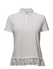 ABNER LACE POLO SS, - CLASSIC WHITE
