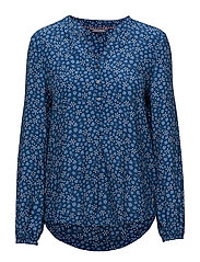 RAE BLOUSE LS - DITSY FLORAL / NAVY PEONY