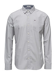 TJM BASIC SOLID SHIRT L/S 38 - GREY