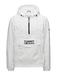 TJM POP OVER ANORAK, - CLASSIC WHITE