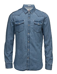 TJM BASIC REG DENIM, - MID INDIGO
