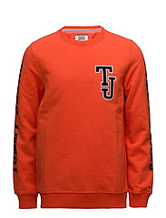 TJM LOGO CN HKNIT L/ - SPICY ORANGE