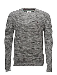 TJM TONAL CN SWEATER - LT GREY HTR