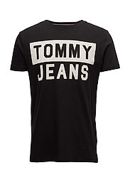 TJM CN T-SHIRT S/S 1 - TOMMY BLACK