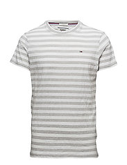 TJM ESSENTIAL STRIPE - LT GREY HTR