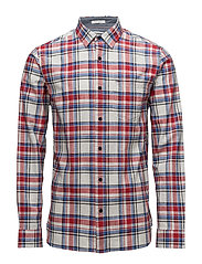 TJM TEXTURED CHECK S - RACING RED / MULTI