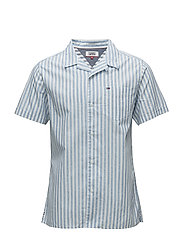 TJM STRIPE CAMP SHIR - NAUTICAL BLUE