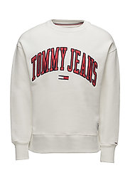 TJM COLLEGIATE SWEAT - BRIGHT WHITE