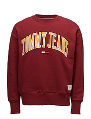 TJM COLLEGIATE SWEAT - MERLOT