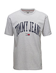 TJM COLLEGIATE TEE, - ICE GREY HTR
