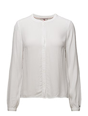 TJW BASIC RN BLOUSE, - BRIGHT WHITE