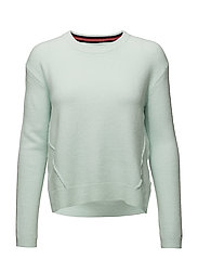 TJW BASIC CN SWEATER - AQUA FOAM