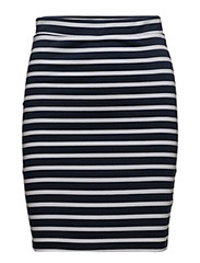 TJW BASIC SKIRT 17, - NAVY BLAZER / BRIGHT WHITE