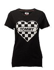 TJW RACING BADGE TEE - TOMMY BLACK