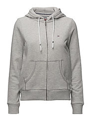TJW ESSENTIAL ZIP HO - LIGHT GREY HTR