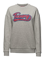 TJW LUX LOGO SWEATSH - LIGHT GREY HTR