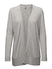 TJW ESSENTIAL CARDIG - LIGHT GREY HTR