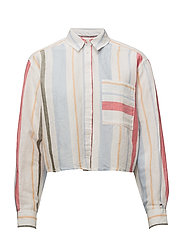 TJW MULTI STRIPE CRO - IRREGULAR SHIRTING STRIPE