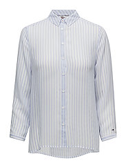 TJW STRIPE 3/4 SLEEV - SERENITY / BRIGHT WHITE
