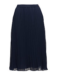 TJW PLEATED MIDI SKI - BLACK IRIS