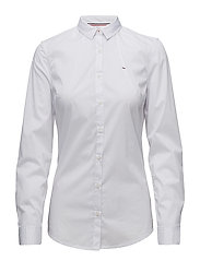 TJW SLIM FIT POPLIN, - BRIGHT WHITE