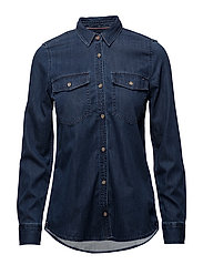TJW DENIM SHIRT MID, - ADRY MID BLUE RIGID