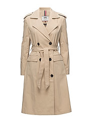 TJW TRENCH COAT - WARM SAND