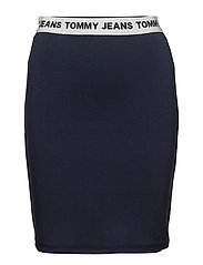 TJW LOGO PENCIL SKIRT - BLACK IRIS