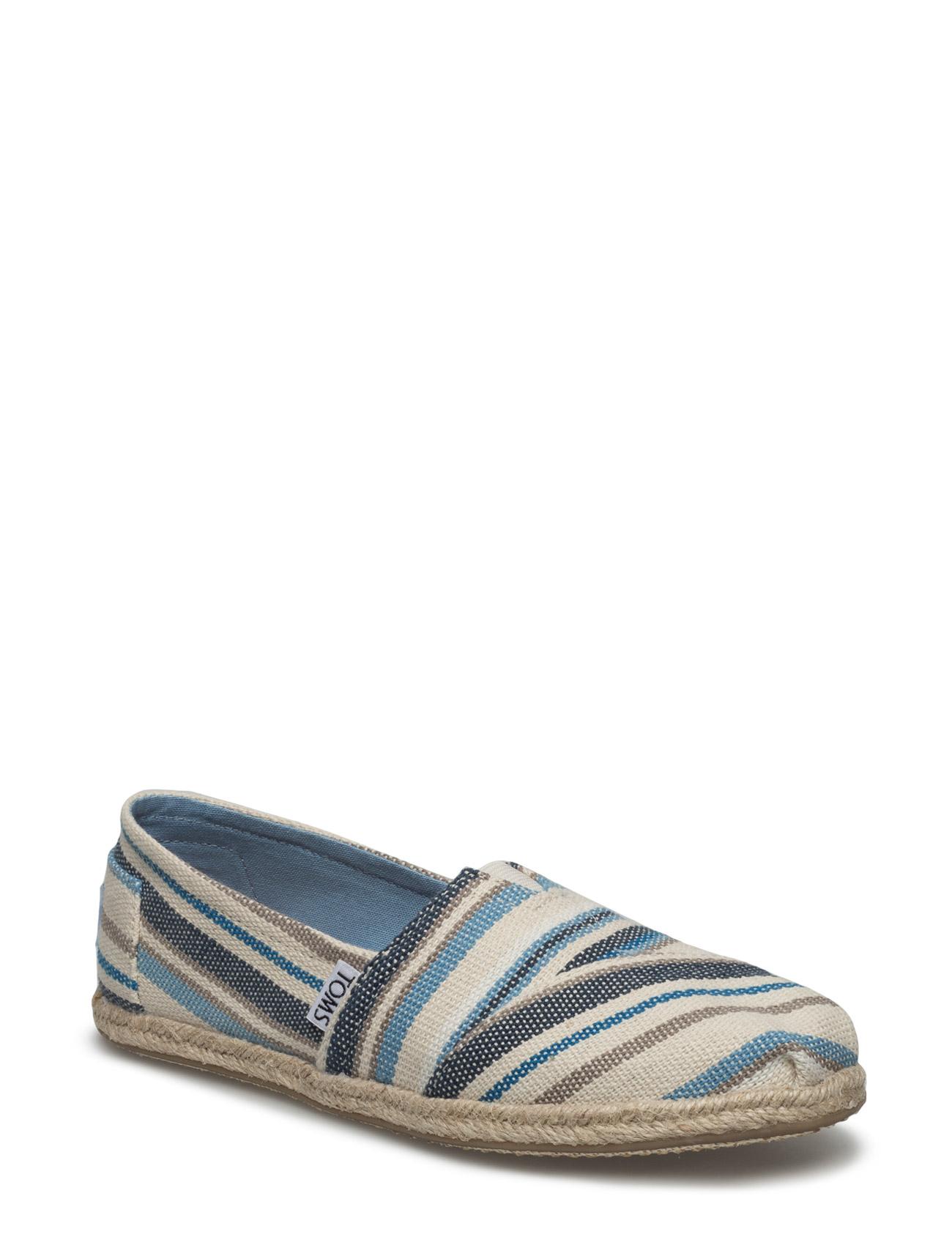 Blue Aster Woven Stripe Rop Alpargata TOMS Espadrillos