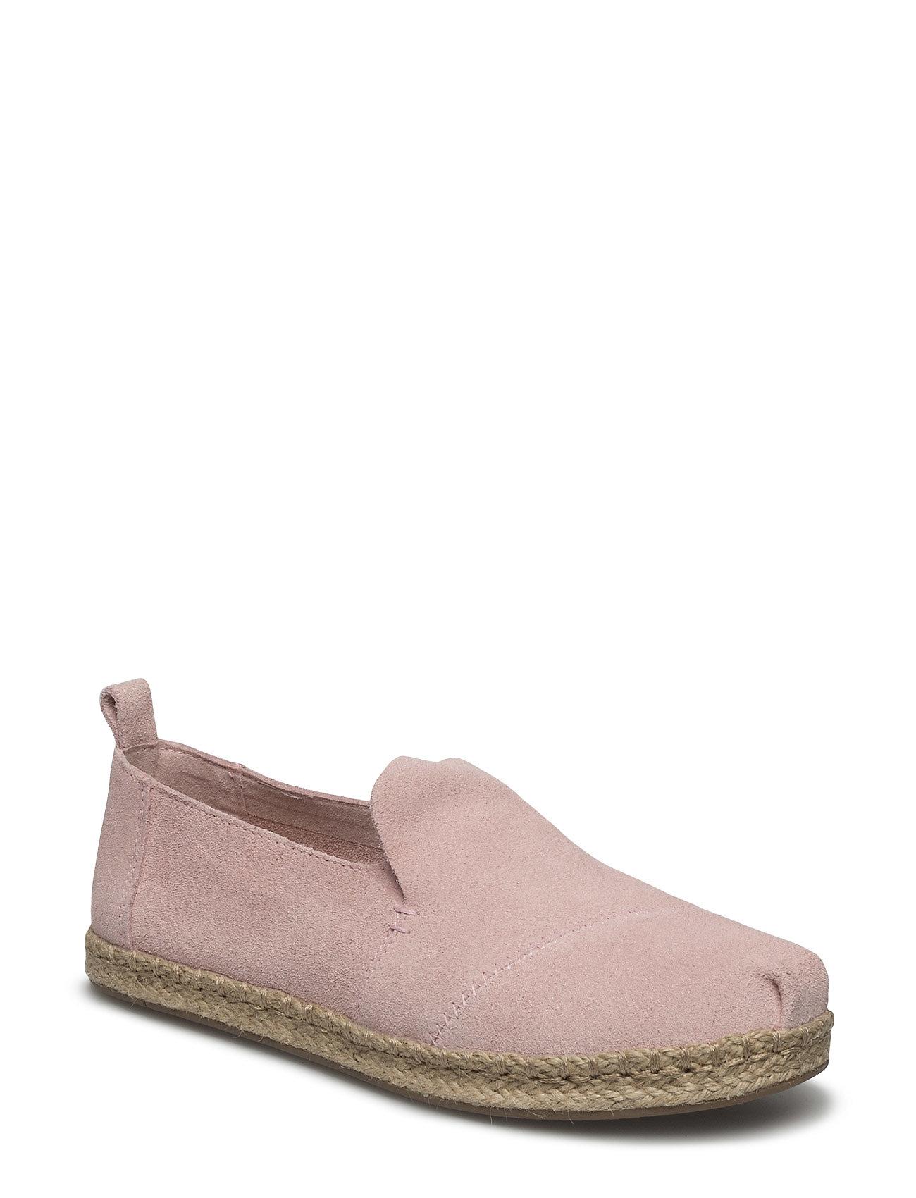 Pale Pink Suede Deconstructed Alpargata TOMS Espadrillos til Damer i