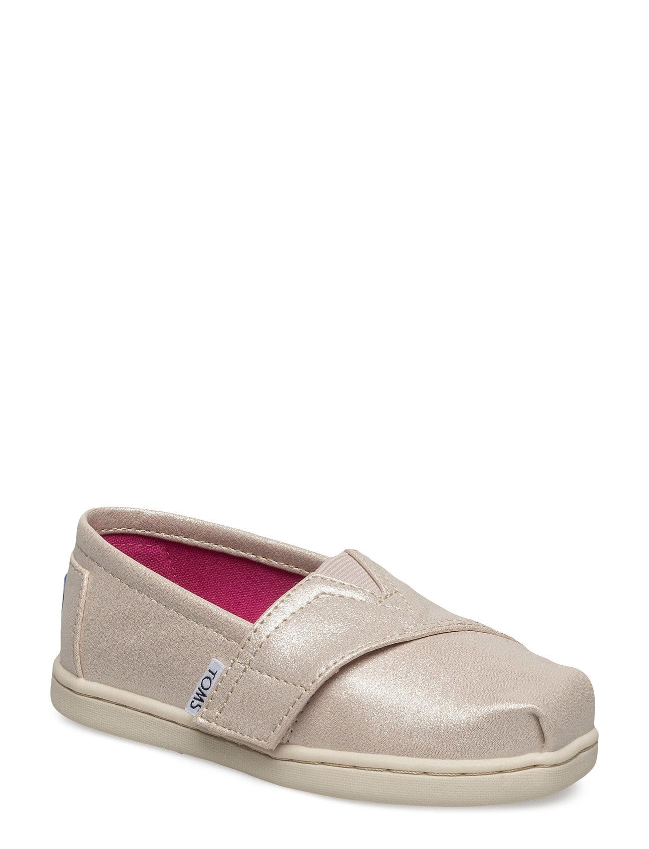 Pale Gold Shimmer Pu Alpargata TOMS Sko & Sneakers til Børn i