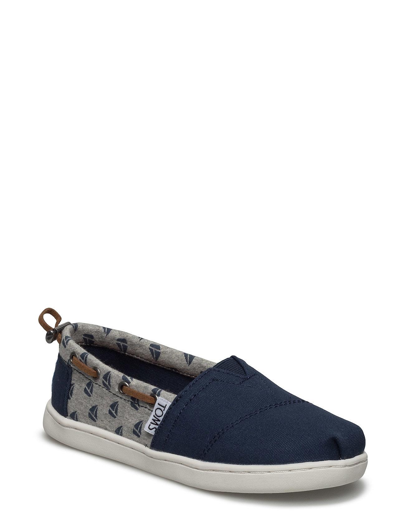 Navy Canvas/Sailboats Bimini TOMS Sko & Sneakers til Børn i
