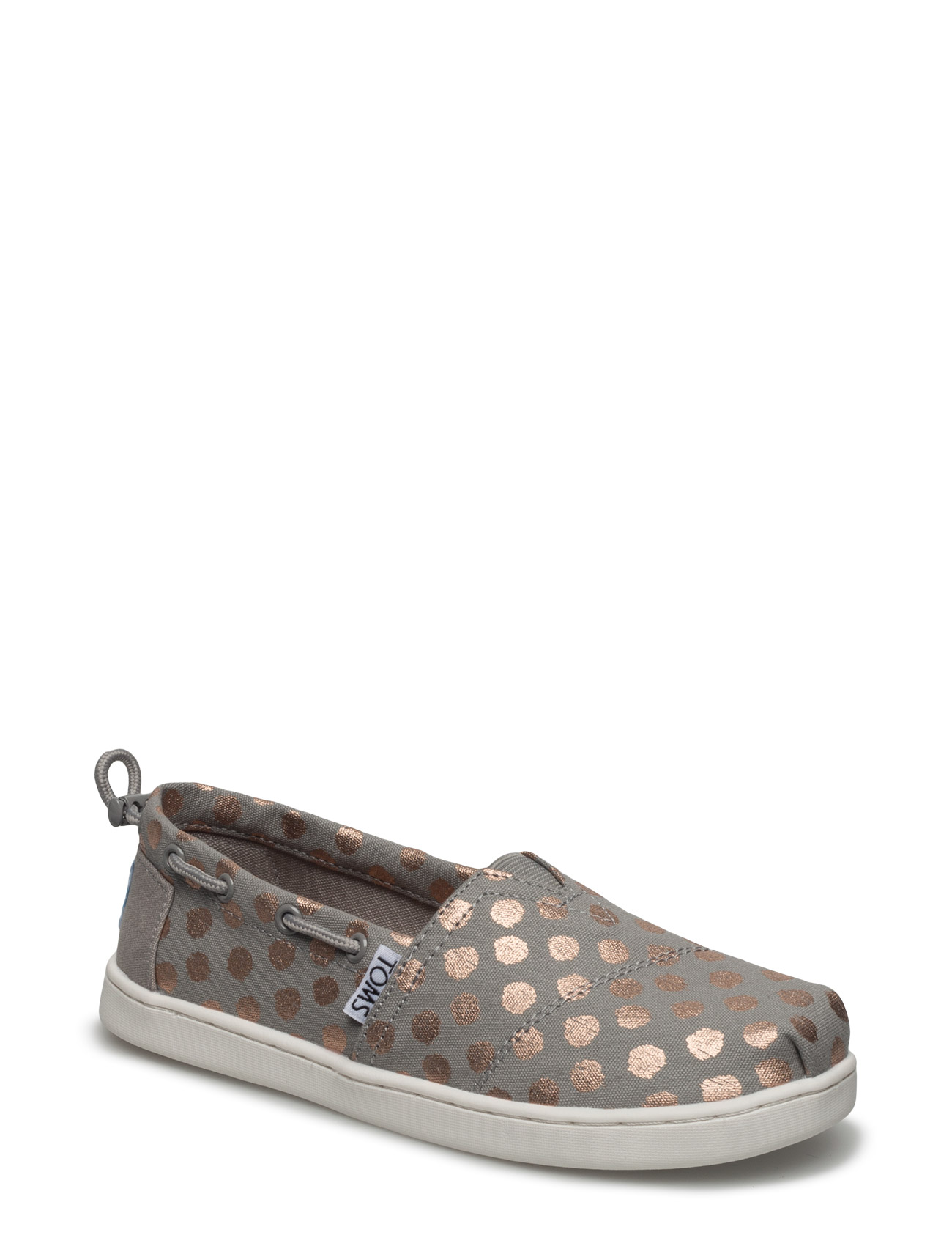 Drizzle Grey/Rose Gold Foil P Bimini TOMS Sko & Sneakers til Børn i