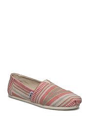 Coral Blanket Stripe Alpargata - CORAL BLANKET STRIPE