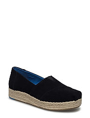Black Suede Women Espadrile - BLACK SUEDE